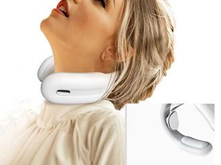 Intelligent Neck Massager  HUNNAY Neck Relax Massagers with Cordless Heat  3 Modes 15 levels Intelligent Portable Trigger Point Neck Massage Electric Pulses for Men and Women