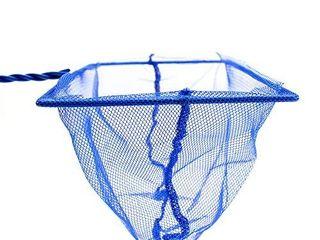 Penn Plax Aquarium Fish Net Aqua Blue Quick Catch Mesh Wire Net Safe for All Fish 4 Inches