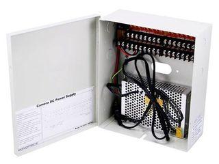 Monoprice 16 Channel CCTV Camera Power Supply   12VDC   10Amps