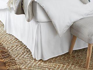 Amazon Basics Pleated Bed Skirt   Twin  Bright White