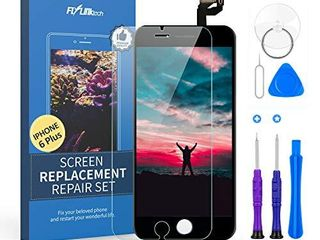 for iPhone 6 Plus Screen Replacement  Flylinktech for iPhone 6 Plus lCD Display Digitizer Touch Screen for iPhone 6 Plus Screen Assembly with Full Repair Tools 5 5 Inch  White