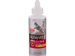 Nutri Vet Eye Rinse for Cats   Gentle Formula Removes Debris   Helps Reduce Irritation and Prevent Tear Stains   4oz