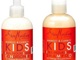 Shea Moisture Kids Hair Care Combination Pack Includes Mango   Carrot 8oz KIDS Extra Nourishing Shampoo  8oz KIDS Extra Nourishing Conditioner   minus 8oz Coconut   Hibiscus KIDS Detangler r