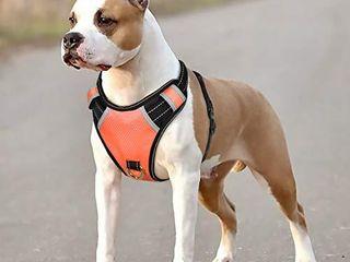BABYlTRl Big Dog Harness No Pull Adjustable Pet Reflective Oxford Soft Vest for large Dogs Easy Control Harness  M  Orange