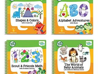 leapFrog leapStart Preschool 4 in 1 Activity Book Bundle with ABC  Shapes   Colors  Math  Animals