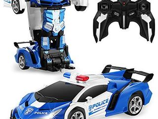 FIGROl Transform RC Car Robot  Remote Control Car Independent 2 4G Robot Deformation Car Toy with One Button Transformation   360 Speed Drifting 1 18 Scale