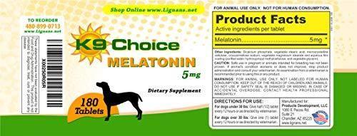 K9 Choice Melatonin 5 mg 180 ct Tablets