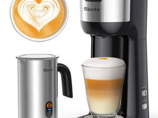 Sboly  K Cup   Ground Machine With Auto Milk Frother  Model NO  SYCM 006