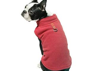 Gooby Dog Fleece Vest   Red  Small   Pullover Dog Jacket with leash Ring   Winter Small Dog Sweater   Warm Dog Clothes for Small Dogs Girl or Boy for Indoor and Outdoor Use