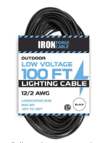 Iron Forge Cable Indoor Outdoor low Voltage 100ft Electrical Wire