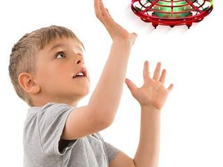 Force1 Scoot Hand Operated Drone for Kids or Adults   Hands Free Motion Sensor Mini Drone  Easy Indoor Small UFO Toy Flying Ball Drone Toy for Boys and Girls  Red