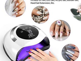 120W UV lED Nail lamp  Easkep Gel Nail Polish Faster Nail Dryer for 4 Timer Setting Professional Gel lamp Portable Handle Curing lamp for Fingernail and Toenail Auto Sensor Nail Machine  2021 NEWEST