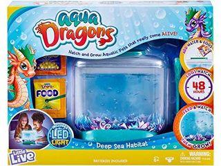 little live Aqua Dragons   Deep Sea Habitat   lED light Up Tank Hatch and Grow Aquatic Pets