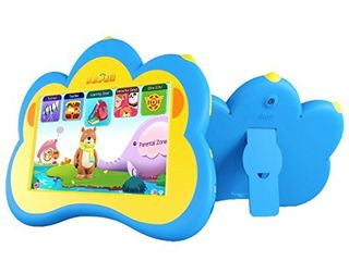 Kids Tablet  B B PAW 7  Eye Protection Whole Brain Education Gifts WiFi Tablet for Kids 2 to 6 Years Old with 120  Preloaded learning and Training Apps Sky Blue
