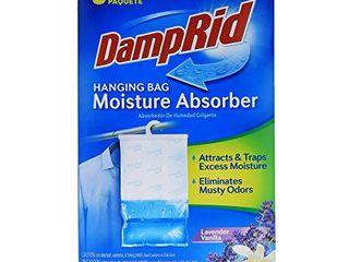 DampRid lavender Vanilla Hanging Bag Moisture Absorber for Closets   Odor Eliminator   3 pack  16oz  ea  Traps Excess Moisture for Fresher  Cleaner Air