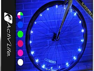 Activ life Bike Wheel lights  2 Tires  Blue  Best Gifts for Men for Easter Basket Stuffing   Birthday Gifts  Teens   Boys  Top Unique Presents for Kids 2021 Ideas for Him  Dad  Brother  Uncle