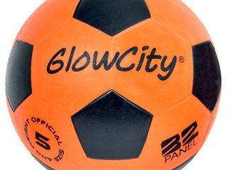 GlowCity light Up lED Soccer Ball Blazing Red Edition Glows in The Dark with Hi Bright lED lights   Size 5