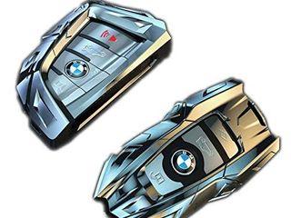 luxury Fobs BMW Key Fob Cover  Metal Alloy Key Fob Case for BMW 1 2 3 4 5 6 7 Series  X1 X2 X3 X4 X5 X6 X7  Type B  Chrome