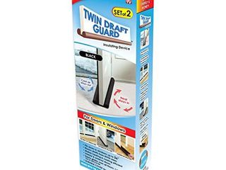 Original Twin Draft Guard Door Draft Stopper  Year Round Insulator  for Summer and Winter Use Patented   TRADEMARKED
