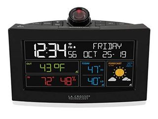 la Crosse Technology C82929 INT WiFi Projection Alarm Clock with AccuWeather Forecast