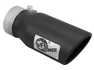aFe Power 49T30401 B09 3  Inlet x 4  Outlet x 9  length Stainless Steel Black Bolt On Exhaust Tip
