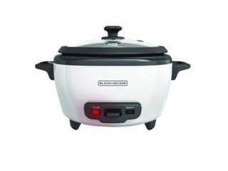 BlACK DECKER 6 Cup Cooked 3 Cup Uncooked Rice Cooker   White RC506