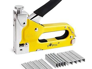 Staple Gun  3 in 1 Manual Nail Gun with 600 Staples   Heavy Duty Gun for Upholstery  Fixing Material  Decoration  Carpentry  Furniture