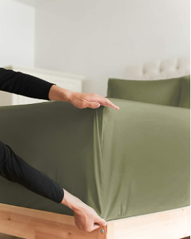 Green Full Fitted Sheet