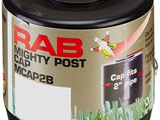 RAB lighting MCAP2B Mighty Post Cap for 2  Pipe  2 3 8  OD x 2 3 4  Height  Black  2 Pack
