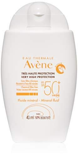 Eau Thermale Avene Mineral Fluid Sunscreen  Broad Spectrum SPF 50  Water Resistant  Non Greasy  1 3 oz