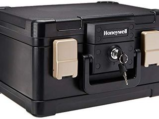 Honeywell Safes   Door locks   30 Minute Fire Safe Waterproof Safe Box Chest with Carry Handle  Small  1102