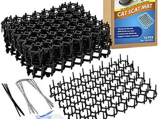 ley s Scat Mat for Cats  Cat Deterrent Mat with Spikes for Indoor Outdoor  Pet Repellent Mats  Dog Network Digging Stopper Prickle Strip  12 Pack Set