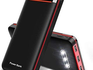 Power Bank 25000mAh Portable Charger Battery Pack with 3 Outputs   2 Inputs Huge Capacity Backup Battery Compatible Smartphone Tablet and More