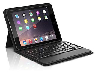 ZAGG ID8BSF BB0 Messenger Folio Case and Non backlit Bluetooth Keyboard for Apple iPad Pro 9 7  iPad 9 7  iPad Air and iPad Air 2   Compatible with 2018  G6  and 2017  G5  9 7   Black