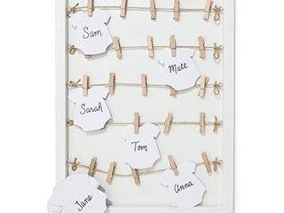 Baby Shower Signature Guest Book with Wood Frame and Die Cut Cards
