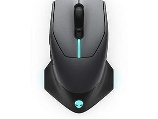 Alienware Wired Wireless Gaming Mouse AW610M  16000 DPI Optical Sensor   350 Hour Rechargeable Battery life   7 Buttons   3 ZONE Alienfx RGB lighting