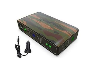 HAlO Bolt Wireless laptop Power Bank   44400 mWh Portable Phone laptop Charger Car Jump Starter with AC Outlet and Car Charger  Camo  114444