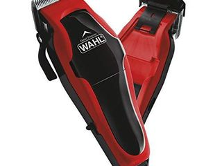 Wahl Clipper Clip  n Trim 2 In 1 Hair Cutting Clipper Trimmer Kit with Self Sharpening Blades  Red