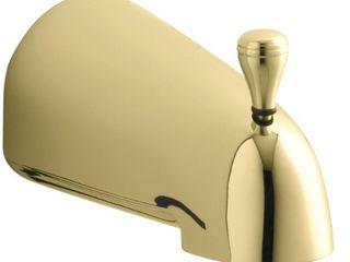 KOHlER K 389 PB Devonshire 4 7 16 Inch Diverter Bath Spout  Vibrant Polished Brass