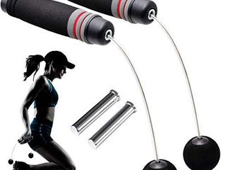 AOKWIT Cordless Jump Rope Professional Tangle Free Skipping Rope Crossfit Speed Jumping Rope for Indoor Outdoor Gym Fat Burning Fitness  Training  Jump Rope   9oz Weighted Iron Bars