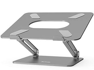 Boyata laptop Stand  Adjustable Ergonomic laptop Holder  Aluminium Alloy Notebook Stand Compatible for MacBook Pro Air  Dell XPS  lenovo  Samsung laptops Up to 17 inches Space Gray