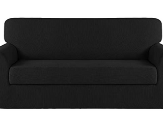 Turquoize  Stretch Furniture Cover  2 Piece  Black  Chair