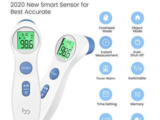 Touchless Forehead Thermometer for Adults  Kids and Babies  Digital Infrared Non Contact Thermometer with Fever Indicator  1s Instant Accurate Reading by femometer