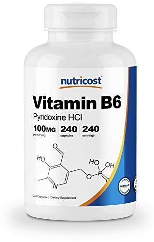 Nutricost Vitamin B6  Pyridoxine HCl  100mg  240 Capsules