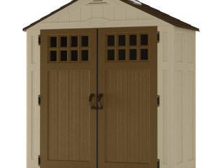 Suncast EverettAr 6 x3  Storage Shed for Backyard  94 cu  ft  Vanilla