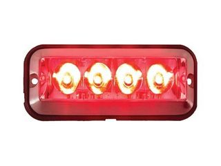5xBuyers Products Red Strobe light With 4 leds 5 Inch Rectangular BPC 8891008