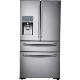 Samsung   22 6 Cu  Ft  Counter Depth 4 Door French Door Refrigerator with Thru the Door Ice and Water   Stainless steel