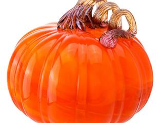 Diamond Star Decorative Hand Blown Glass Pumpkin