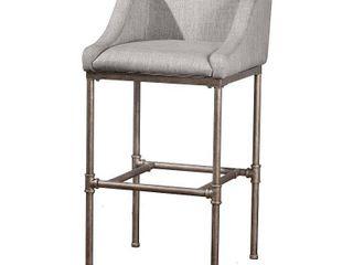 Hillsdale Furniture Dillon Non Swivel Counter Stool  Silver Finish