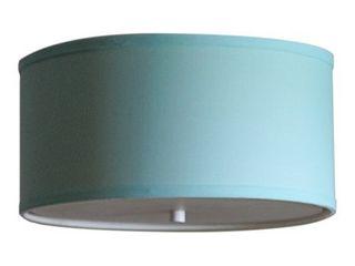 14 Moderne Flush Mount Converter Kit Island Paridise Blue Drum lampshade 14x14x7